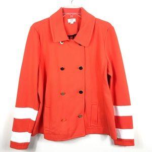 Crown & Ivy| Women's Double Breasted Orange Jacket